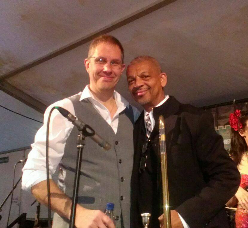 Bumped into this guy playing at the Keswick Jazz festival. Lucien Barberin trombone (Harry Connick Jr